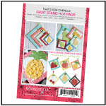 Kimberbell That's Sew Chenille Fruit Stand Hot Pads Back