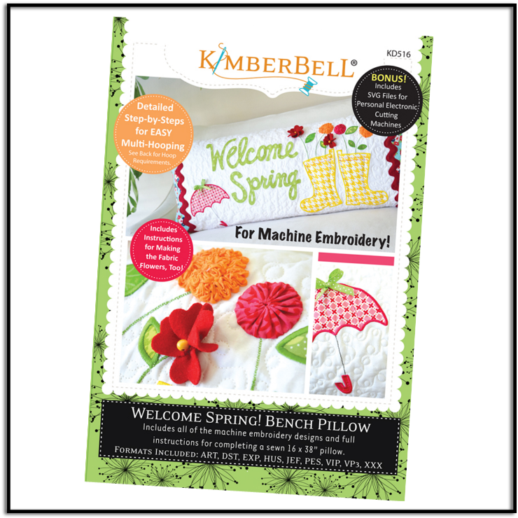 Kimberbell Welcome Spring Bench Pillow