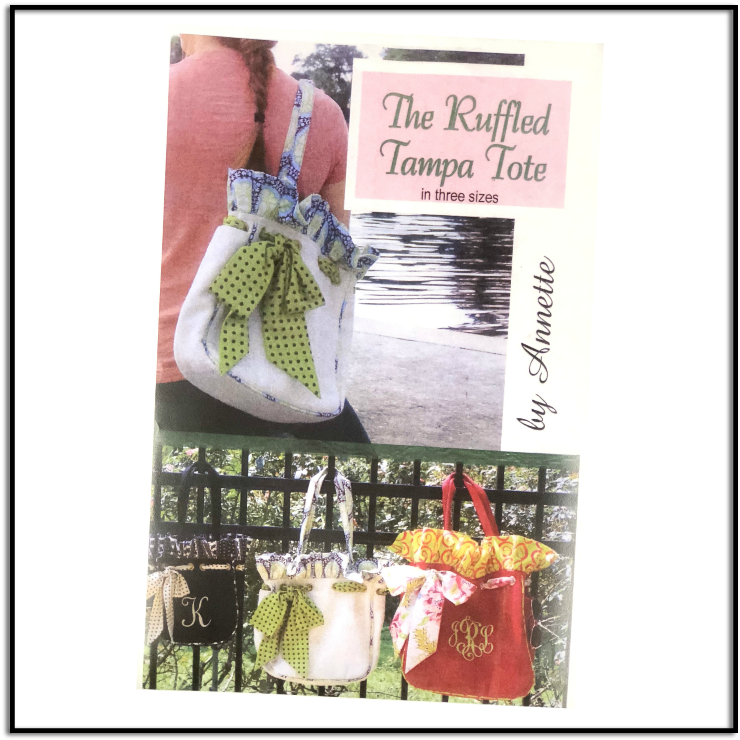 Ruffled Tampa Tote Pattern by Annette