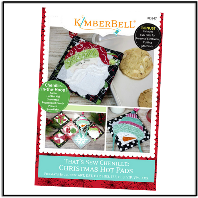 That's Sew Chenille: Christmas Hot Pads by Kimberbell Designs