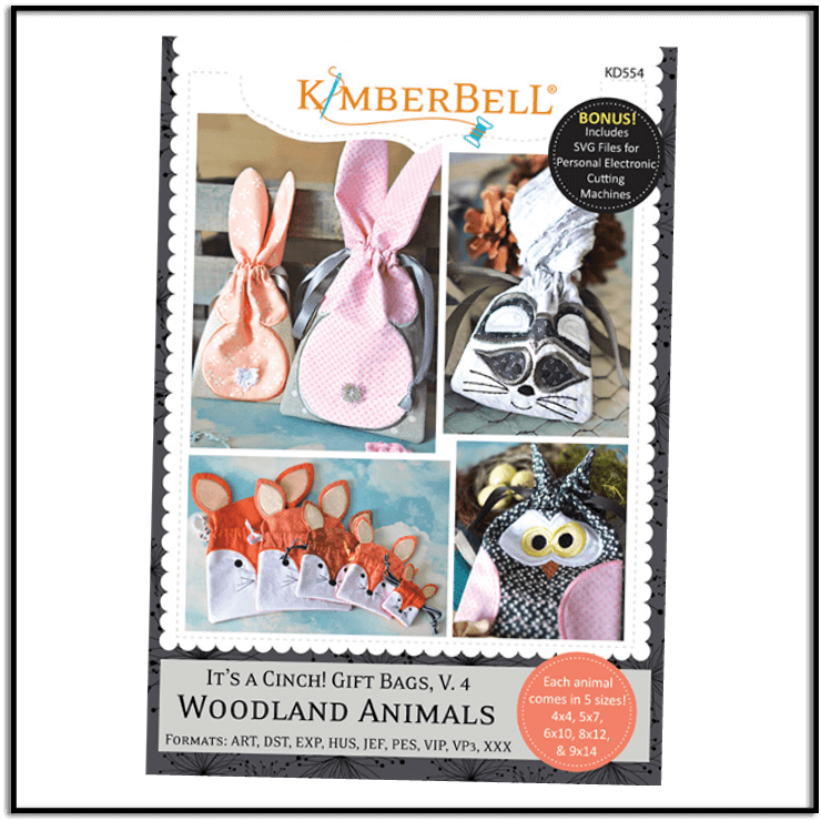 Kimberbell It's a Cinch Volume 4 Woodland Animals KD554