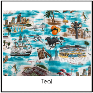 Tampa Bay Fabric Blue Exclusively at Keep Me In Stitches