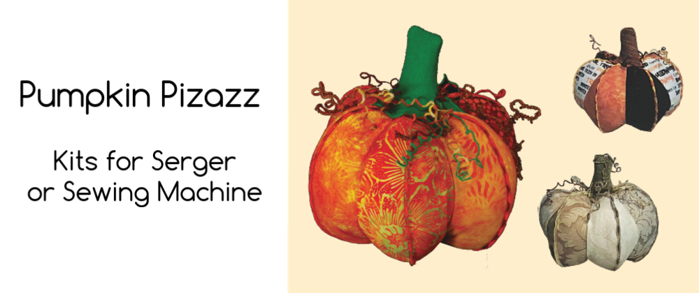 Pumpkin Pizazz Kits for Serger or Sewing Machine at Keep Me In Stitches