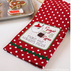 Kimberbell We Whisk You a Merry Christmas Tea Towel Class at Keep Me In Stitches