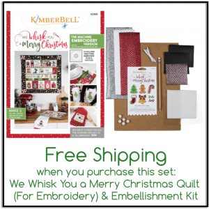 We Whisk You A Merry Christmas Quilt and Embellishment Kit Set for Embroidery KDKB166 KD806