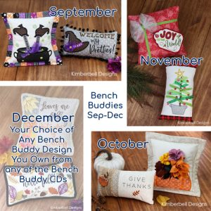 Kimberbell Bench Buddies September through December classes at Keep Me In Stitches