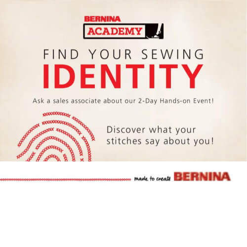 BERNINA Academy 3 Find Your Sewing Identity Keep Me In Stitches Florida