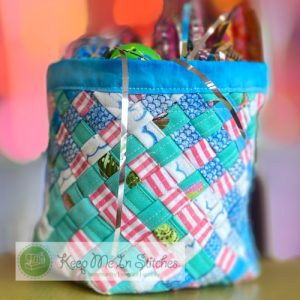 Woven Fabric Basket sewing class at Keep Me In Stitches