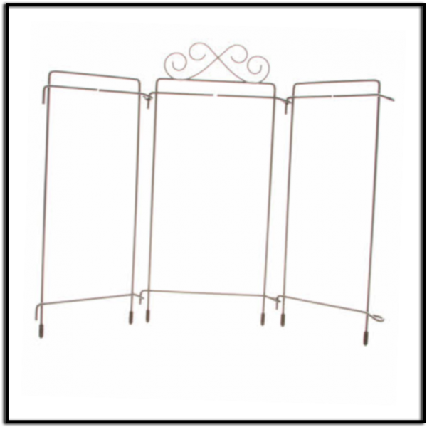 4in x 9in tabe top tri-stand hanger grey