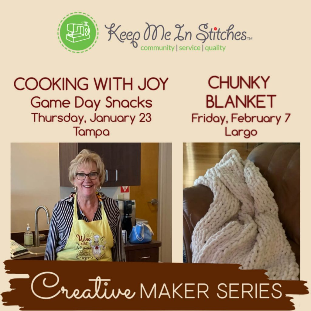 Creative Maker Series of Classes at Keep Me In Stitches