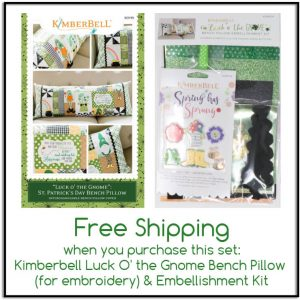 Kimberbell Luck O' the Gnome Bench Pillow and Embellishment Kit
