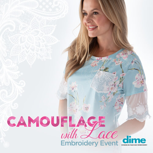 DIME Camouflage with Lace event at Keep Me In Stitches