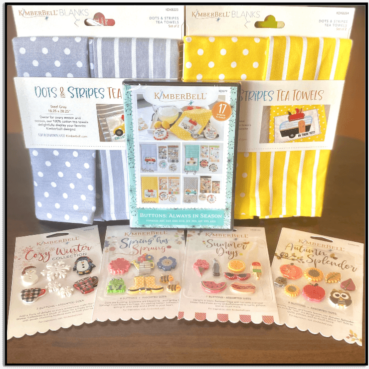 Kimberbell Buttons: Always in Season plus 4 sets of buttons and 2 sets of towels