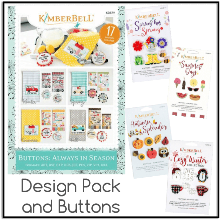 Kimberbell Buttons Always in Season cd and coordinating buttons