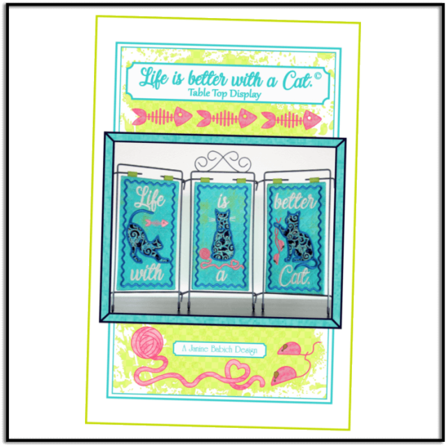 Life is Better with a Cat by Janine Babich Designs