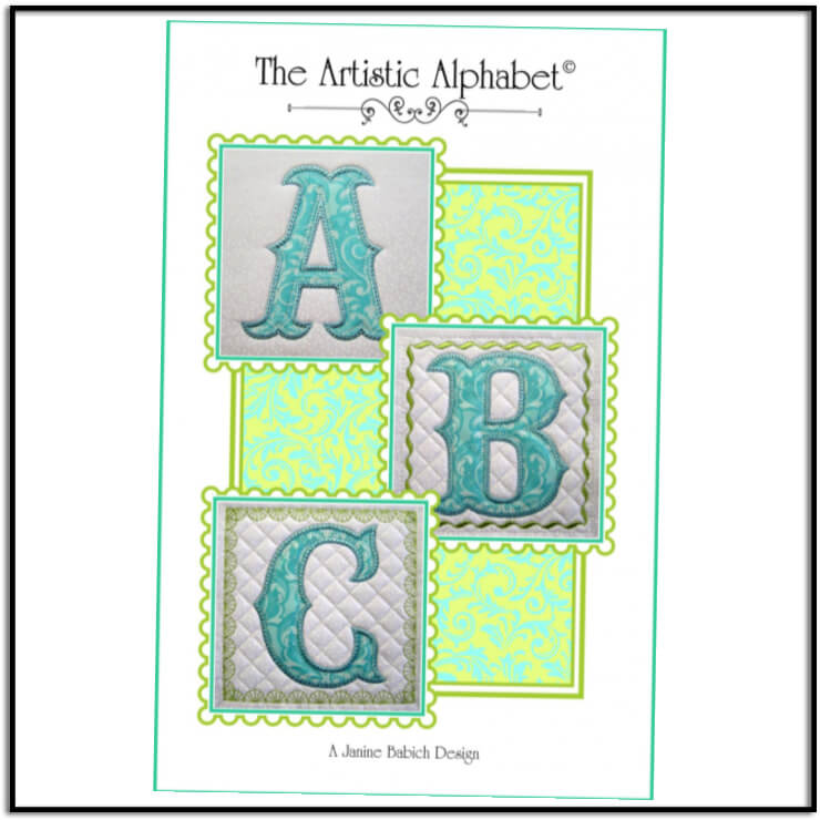 The Artistic Alphabet font and project cd by Janine Babich Designs