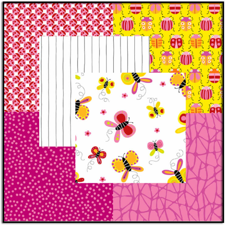 Buzzin Around Fabric Bundle #4-Pink