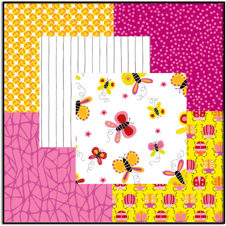 Buzzin Around Fabric Bundle #2-Pink/Yellow