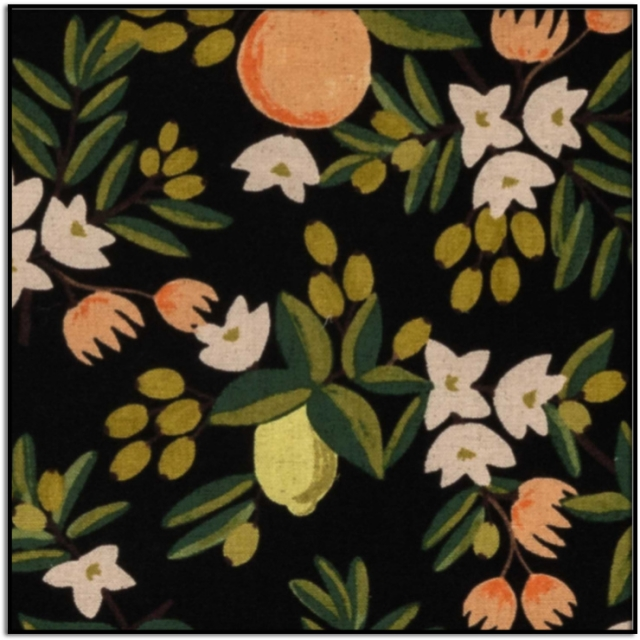 Primavera Citrus Floral Canvas