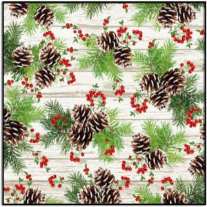 I'll Be Home for Christmas Hanging Pine Cones and Berries HOLIDAY-C7826-MULTI