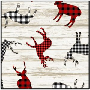 I'll be Home for Christmas Buffalo Plaid Deer Decals HOLIDAY-C7827-MULTI