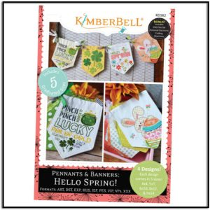 Pennants & Banners: Hello Spring! Machine Embroidery Designs