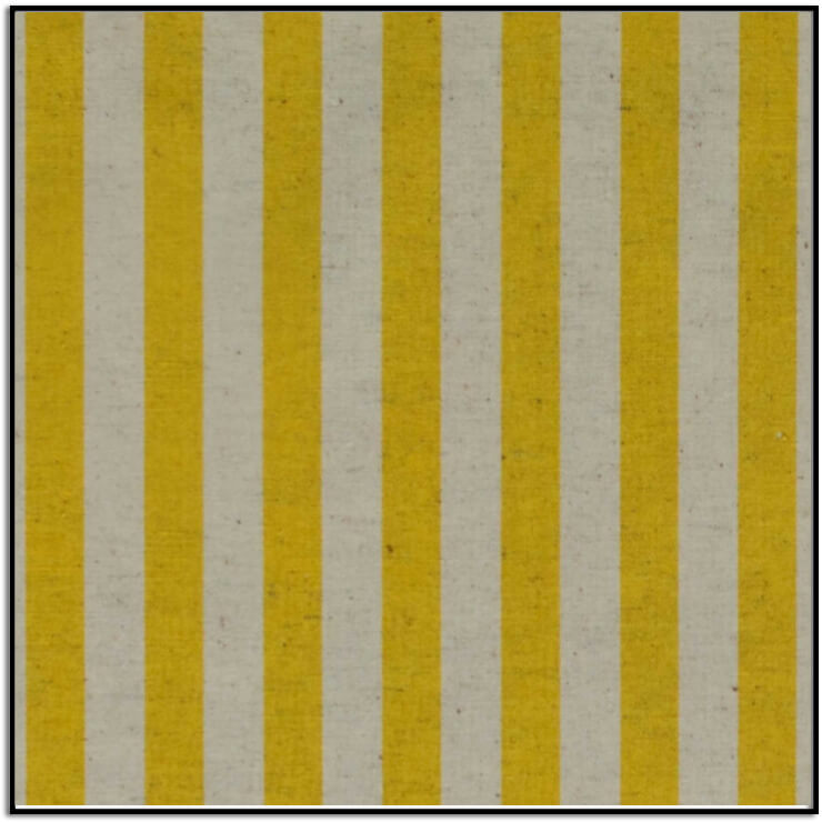 Primavera Cabana Stripe Yellow Canvas