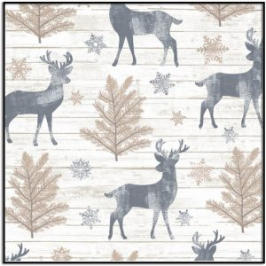 Rustic Reindeer HOLIDAY-C7474-Cream