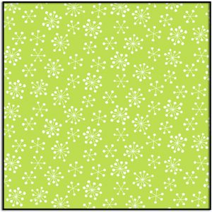 very Merry Snowflake on Green A-9401-G