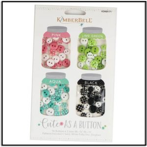 Kimberbell Cute as a Button Pack Pink, Green, Aqua, Black