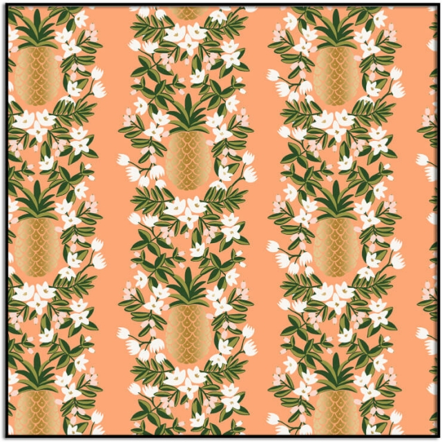 Rifle Paper Co Primavera Pineapple Stripe Peach