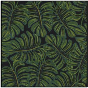Rifle Paper Co Menagerie Monstera Rayon Lawn Midnight