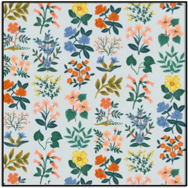 Rifle Paper Co Meadow-Wildflower Field Lawn Gray