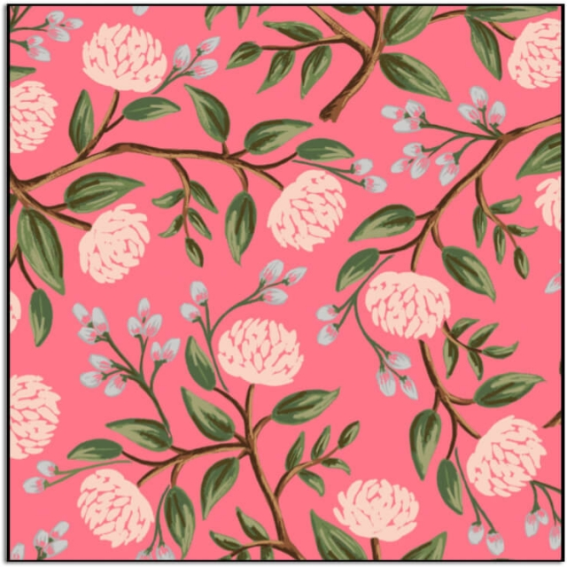 Rifle Paper Co. Wildwood Peonies Pink
