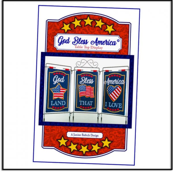 God Bless America Table Top Design by Janine Babich Designs