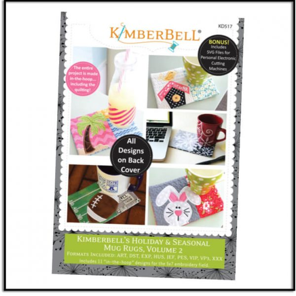 Kimberbell Holiday & Seasonal Mug Rugs Volume 2 KD517