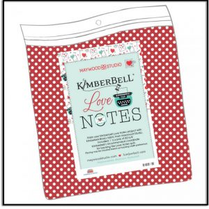 Kimberbell Love Notes Backing Fabric MAS8216-R