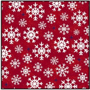 Windham Fabric Christmas USA Snowflakes on Red Background 51667-2