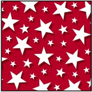 -Windham Fabric Pride & Honor Whites Stars on Red background 51770-2