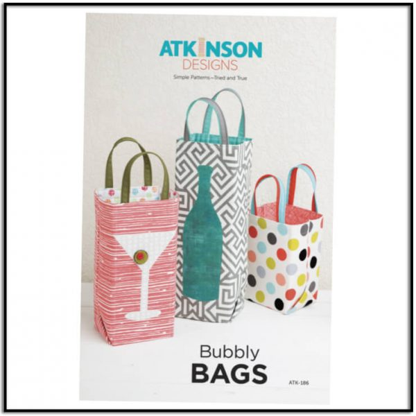 Bubbly Bags Pattern by Atkinson Designs Gift Bags ATK-186