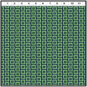 Picholine Green and Blue Squares Y2973-3