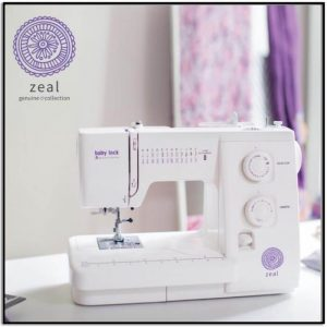 Baby Lock Zeal Sewing Machine Genuine Collection