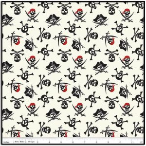 Pirate Tales Skulls Cream from Riley Blake C9683-CREAM