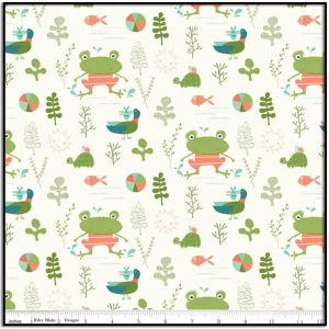 Ready Set Splash! Main Cream with Frogs C9890-Cream