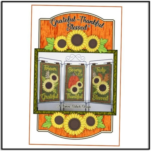 Grateful Thankful Blessed Table Top Display by Janine Babich JBDGTB