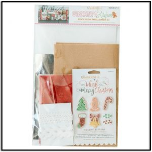 Kimberbell Gingers Kitchen Bench Pillow Embelishment Kit KDKB1213