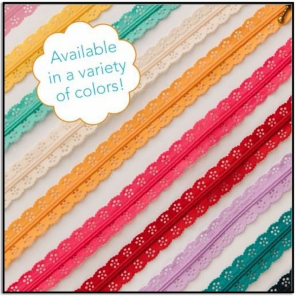 Kimberbell Lace Zippers Assorted Colors