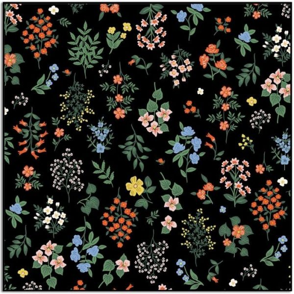 Strawberry Fields Hawthorne Black by Rifle Paper Co