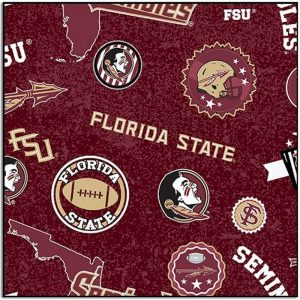 Florida State University Seminoles Home State Fabric FSU-1208