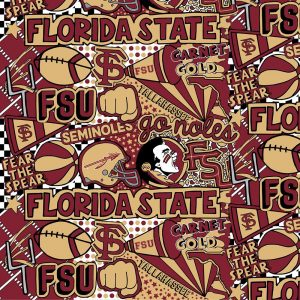 Florida State University Seminoles Pop Art Fabric FSU-1165